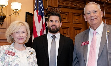 Rep. Dempsey Welcomes Reverend Jody Hagerty as Chaplain of the Day at Georgia House of Representatives