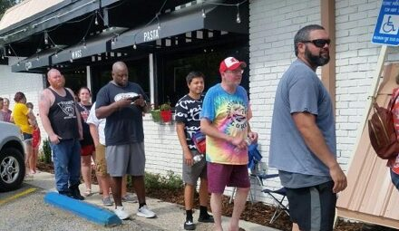 Local Line up Early for Their Chance at Free Pizza for a Year