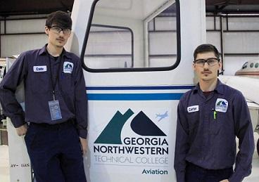 Identical twins graduate from GNTC's Aviation Maintenance Program