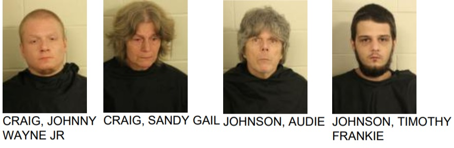 Search Leads to Four Arrested on Drug Charges