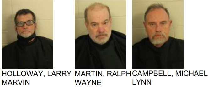 Three Men Charged with felony Theft