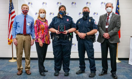 SRO Ginger Shelly receives FCS Safety & Security Award of Honor