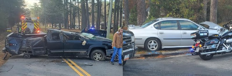Wreck on Old Summerville Sends 2 to Hospital, hundreds without Power