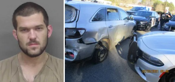 Report of Aggravated Assault, Auto Theft, Leads to Pursuit, Crash, and Arrest