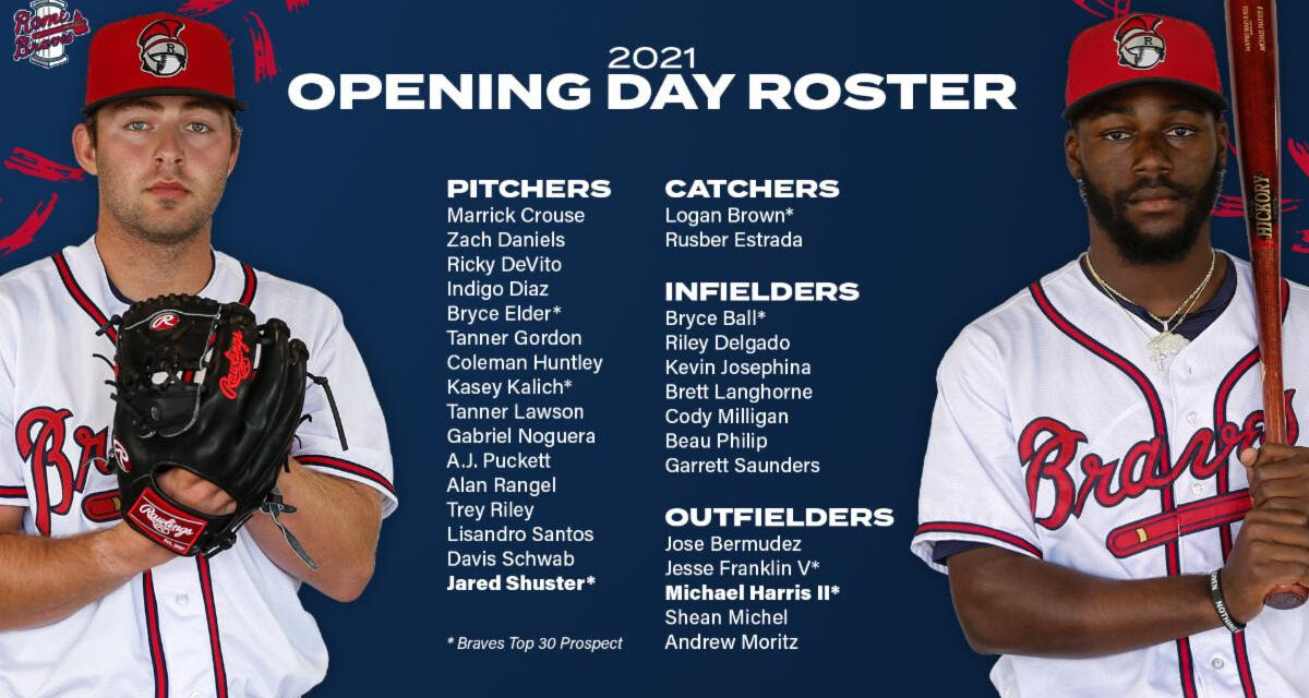 Rome Braves Announce Opening Day Roster
