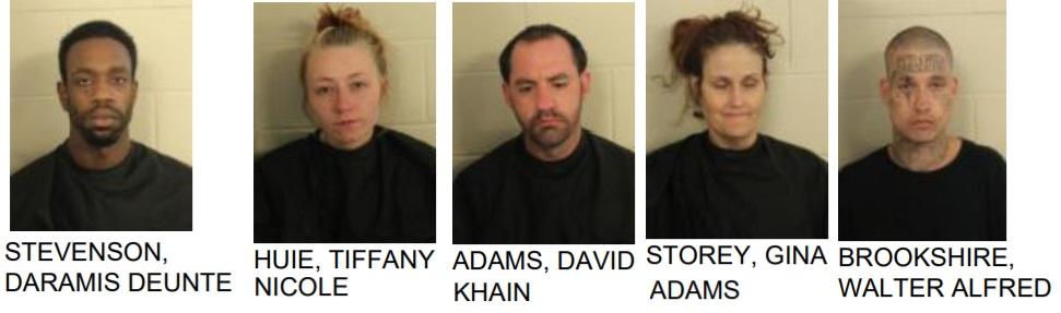 Metro Drug task force arrest five after raid on Warren Road